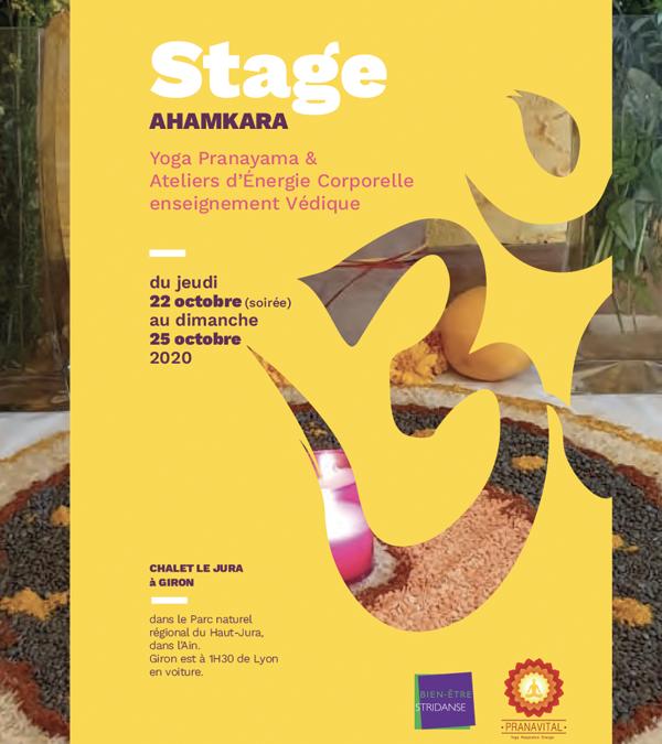 Nouveau Stage au mois d'Octobre 2020 – AHAMKARA